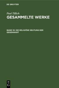 Cover Die religiöse Deutung der Gegenwart