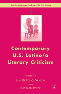 Cover Contemporary U.S. Latino/ A Literary Criticism