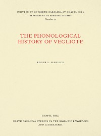 Cover The Phonological History of Vegliote