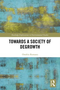 Cover Towards a Society of Degrowth