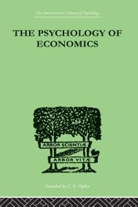 Cover Psychology Of Economics