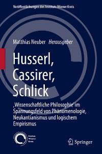 Cover Husserl, Cassirer, Schlick