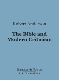 Cover The Bible and Modern Criticism