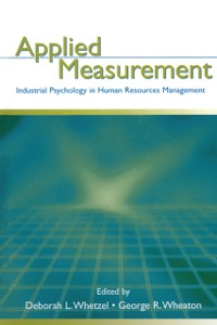Cover Applied Measurement