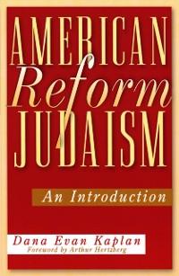 Cover American Reform Judaism