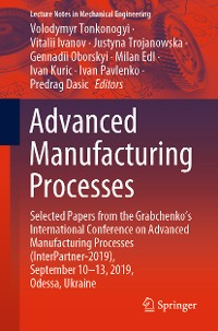 Cover Advanced Manufacturing Processes