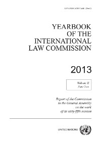 Cover Yearbook of the International Law Commission 2013, Vol. II, Part 2
