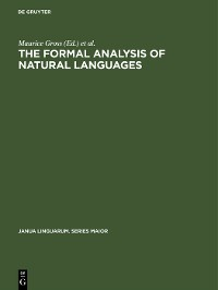 Cover The Formal Analysis of Natural Languages