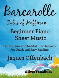 Cover Barcarolle Tales of Hoffman Easiest Beginner Piano Sheet Music