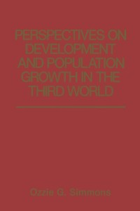 Cover Perspectives on Development and Population Growth in the Third World