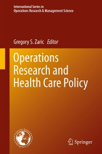 Cover Operations Research and Health Care Policy