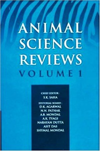 Cover Animal Science Reviews Vol. 1