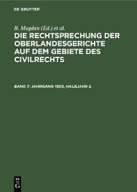 Cover Jahrgang 1903, Halbjahr 2.