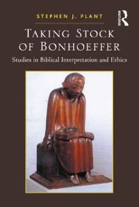 Cover Taking Stock of Bonhoeffer