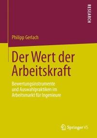 Cover Der Wert der Arbeitskraft