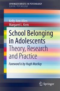 Cover School Belonging in Adolescents