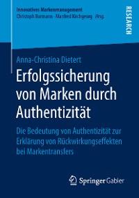 Cover Erfolgssicherung von Marken durch Authentizität