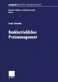 Cover Bankbetriebliches Preismanagement