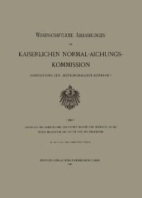 Cover Anschluss der Normale der Deutschen Maasse und Gewichte an die Neuen Prototype des Meter und des Kilogramm