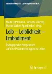 Cover Leib – Leiblichkeit – Embodiment