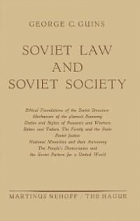 Cover Soviet Law and Soviet Society