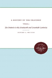 Cover A History of the Oratorio
