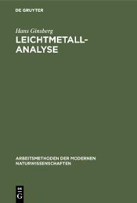 Cover Leichtmetallanalyse