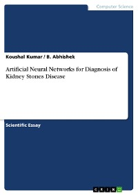 Cover Artificial Neural Networks for Diagnosis of Kidney Stones Disease