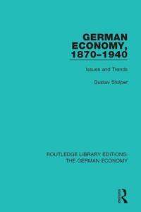 Cover German Economy, 1870-1940