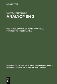 Cover Philosophy of Mind, Practical Philosophy, Miscellanea