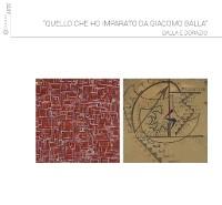 Cover Quello che ho imparato da Giacomo Balla