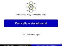 Cover Particelle e decadimenti