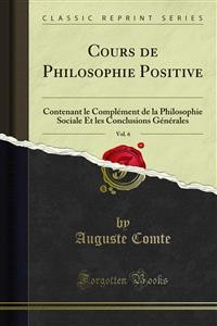 Cover Cours de Philosophie Positive