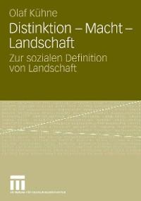 Cover Distinktion - Macht - Landschaft