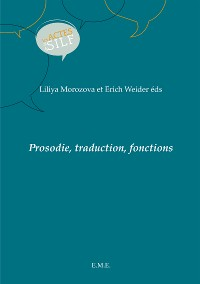 Cover Prosodie, traduction, fonctions