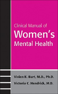 Cover Clinical Manual of Women's Mental Health