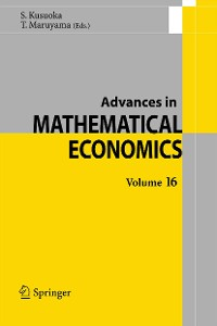 Cover Advances in Mathematical Economics Volume 16