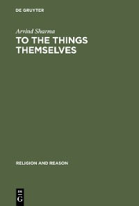 Cover To the Things Themselves