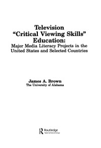 Cover Television ',Critical Viewing Skills', Education
