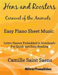 Cover Hens and Roosters Carnival of the Animals Easy Piano Sheet Music