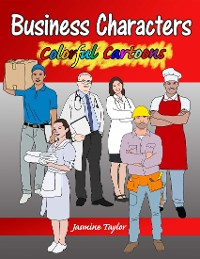 Cover Business Characters Colorful Cartoons