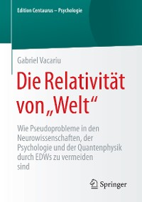 """Cover Die Relativität von """"Welt"""""""