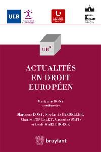 Cover Actualités en droit européen