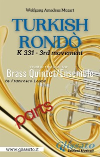 Cover Turkish Rondò - Brass Quintet/Ensemble (parts)