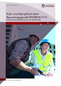 Cover Prüf- und Warnpflicht im Bauvertrag gemäß ÖNORM B 2110