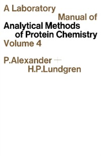 Cover Laboratory Manual of Analytical Methods of Protein Chemistry