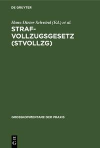 Cover Strafvollzugsgesetz (StVollzG)