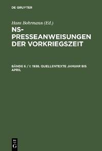 Cover 1938. Quellentexte