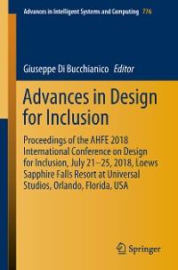 Cover Advances in Design for Inclusion