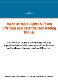 Cover Les Tokens comme Droits de Valeur & Offres de Tokens et Centres Commerciaux Décentralisés